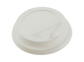 Крышка для стакана диаметр 90мм с клапаном, белая (100 шт)