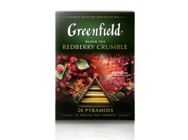 Чай черный Гринфилд Redberry Crumble в пирамидках (20 х 2 гр)