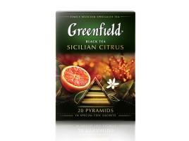 Чай черный Гринфилд Sicilian Citrus в пирамидках (20 х 1,8 гр)