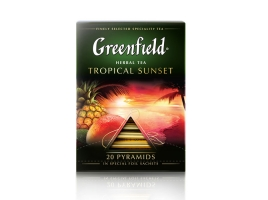 Чай фруктовый Гринфилд Tropical Sunset в пирамидках (20 х 1.8 гр)