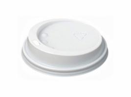 Крышка для стакана диаметр 70мм, белая (100 шт)