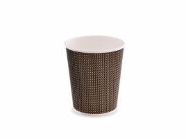 Стакан бумажный трехслойный для кофе 250 мл коричневый (25 шт)
