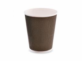Стакан бумажный двухслойный для кофе 360 мл коричневый (25 шт)