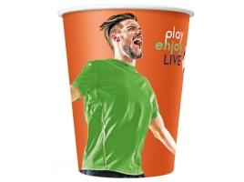 Бумажный стакан для кофе 250 мл. Football (75 шт)