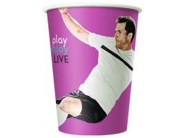 Бумажный стакан для кофе 300 мл Football (50 шт) широкий