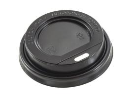 Крышка для стакана диаметр 90мм с питейником, черная (100 шт)