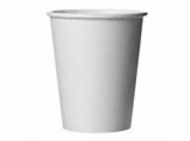 Бумажный стакан для кофе 250 мл белый (75 шт)