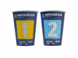 Бумажный стакан для кофе 300 мл Морской бой (50 шт)