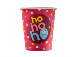 Бумажный стакан для кофе 250 мл Ho-ho-ho (75 шт)