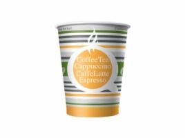 Бумажный стакан для кофе 180 мл цветной Полосатое лето (80 шт)