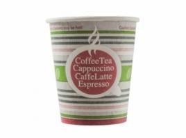 Бумажный стакан для кофе 250 мл Полосатое лето (75 шт)