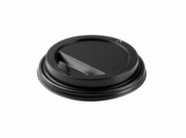 Крышка для стакана диаметр 80мм с клапаном, черная (100 шт)