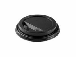 Крышка для стакана диаметр 90мм с клапаном, черная (100 шт)