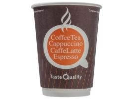 Бумажный стакан для кофе 300 мл Taste Quality оранжевый, двухслойный (25 шт)