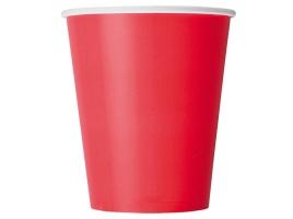 Бумажный стакан для кофе 165 мл красный (100 шт) ВЕНДИНГ Евро